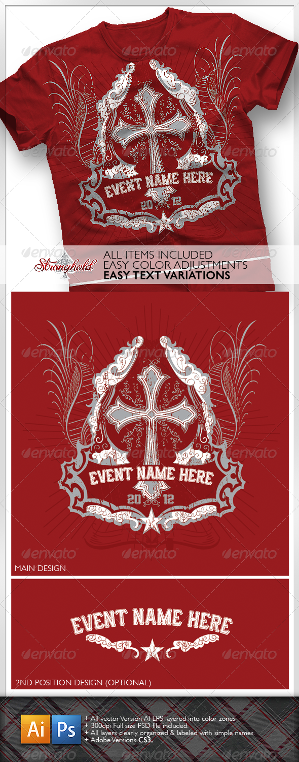 GraphicRiver Church Event T-Shirt 1286150