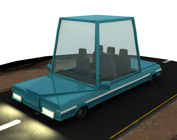 3DOcean Low Poly Rigged Cartoon Car 12841713