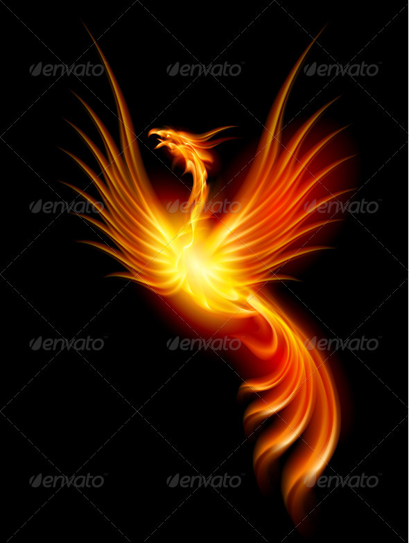 GraphicRiver Burning phoenix 1286229