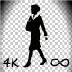 Businesswoman Front Walking
