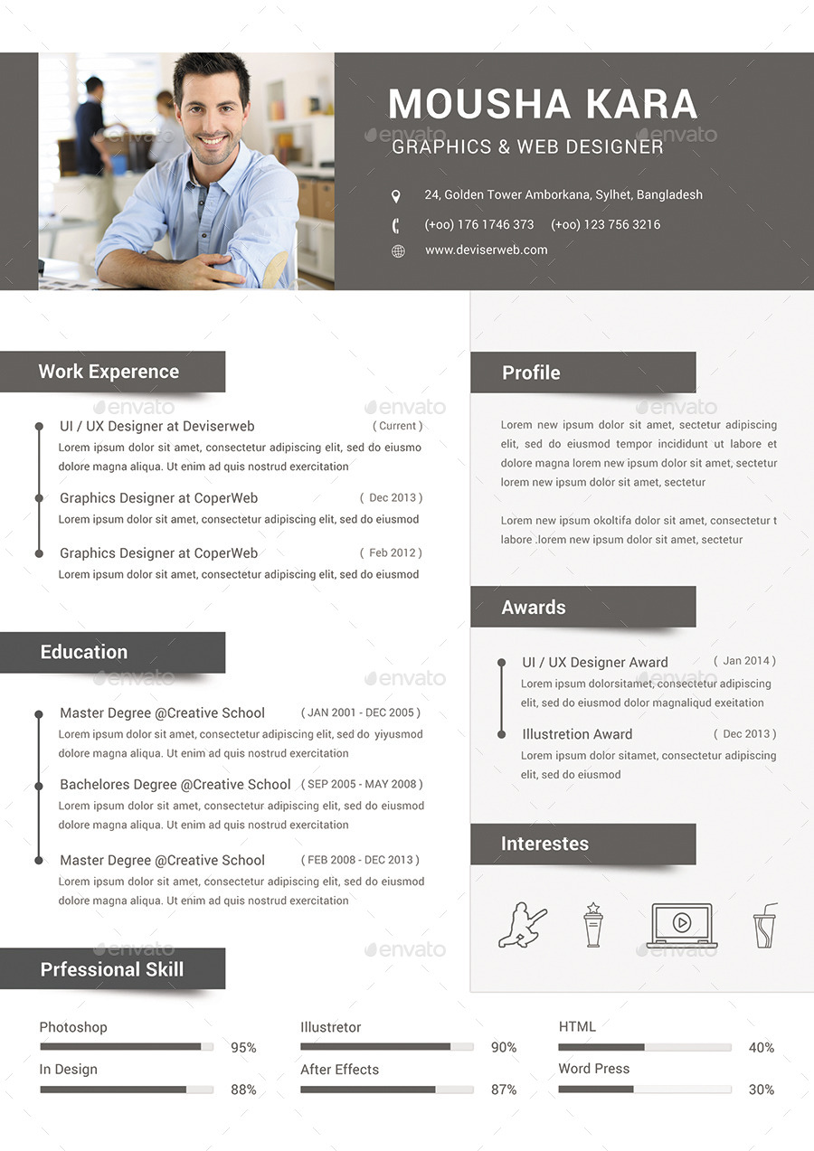 Simple Creative Cv Resume Amp Cover Letter By
