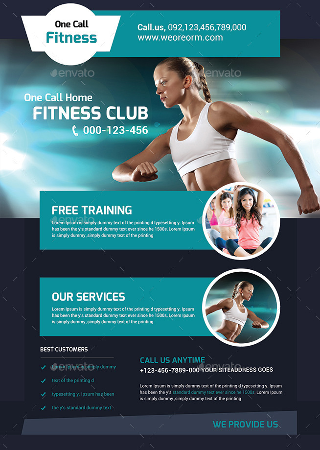 Fitness Flyer Gym Flyer Templates by afjamaal – Fitness Flyer
