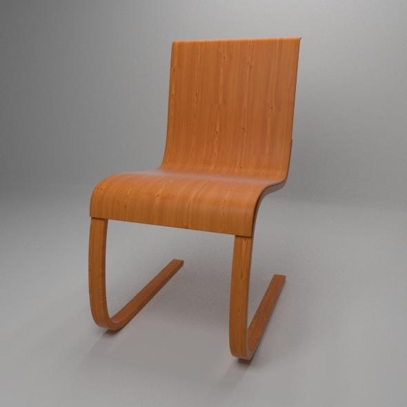 3DOcean Aalto Chair model 21 12846404