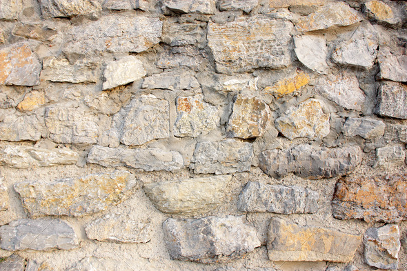 Wall of stones  - Stock Photo - Images