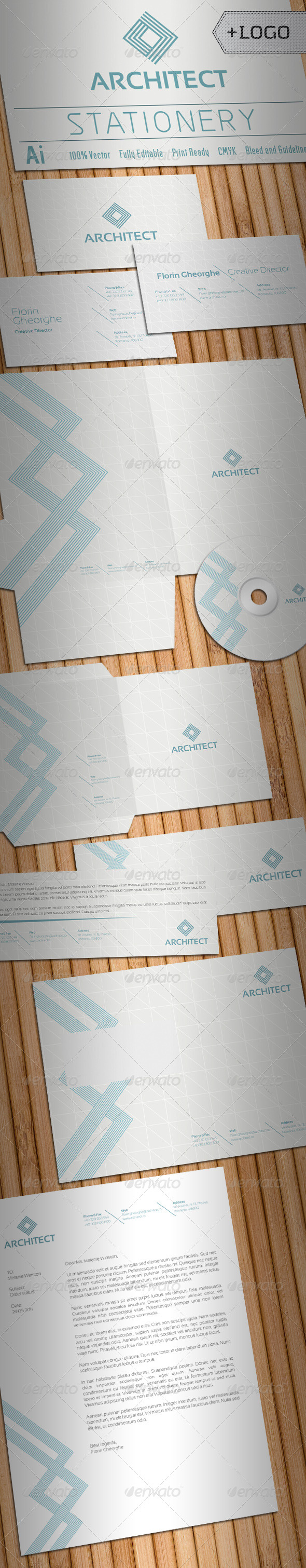 GraphicRiver Architect Stationery 1286785
