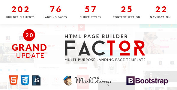 Download Factor - Multipurpose Landing Page Template With Page Builder nulled download