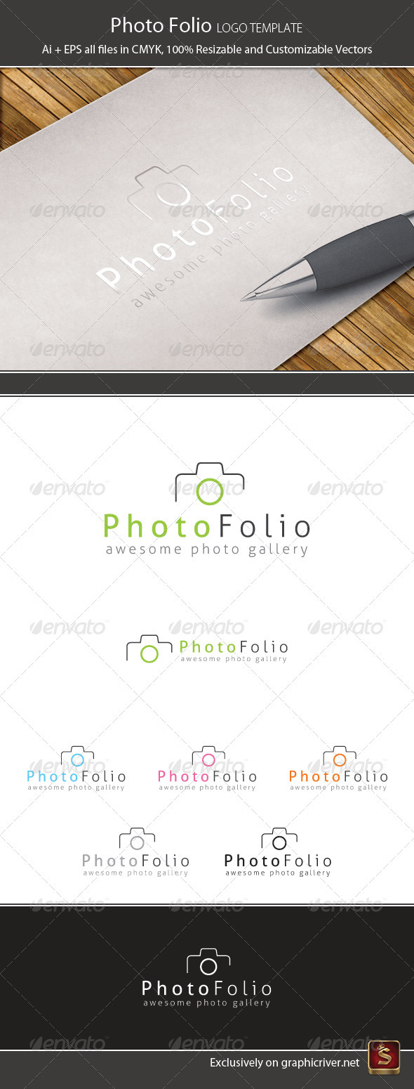 GraphicRiver Photo Folio Logo Template 1286936