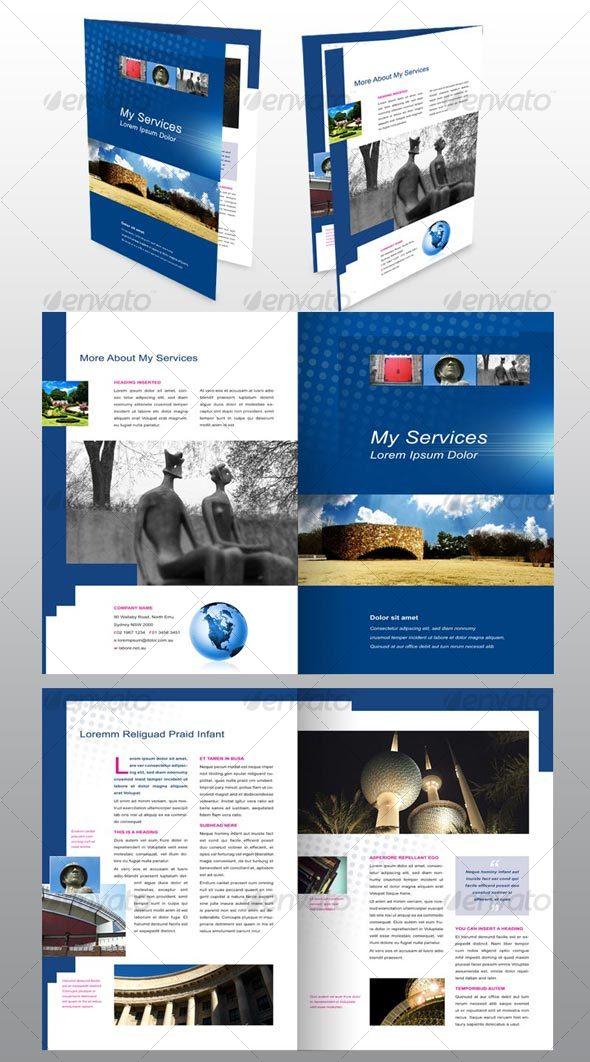 GraphicRiver 4 page A4 Brochure Modern Design Architecture 51373