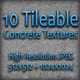 10 Tileable Concrete Textures - Pack One - GraphicRiver Item for Sale