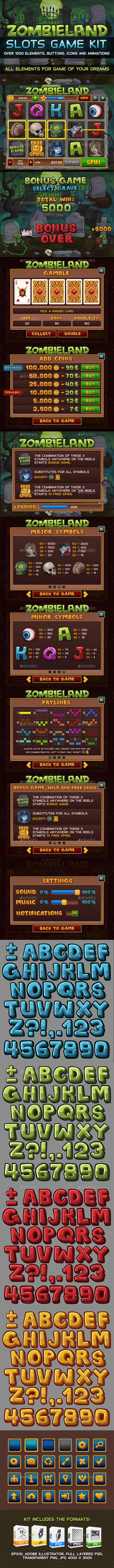Zombieland slots game KIT (Game Kits)