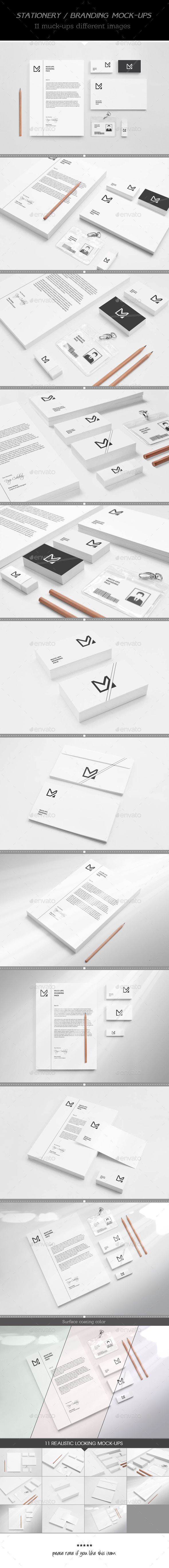 Flower Shop Identity Brading Mock-Up (Stationery)