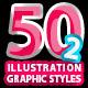 50 Illustrator Graphic Styles Vol.2