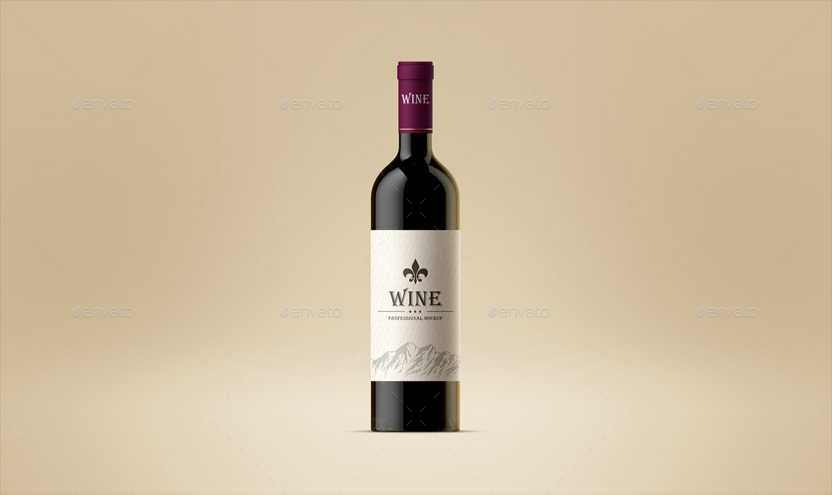 Animals pictures images graphics and comments - Wine Bottle And Glass Mock Up By Ayashi Graphicriver