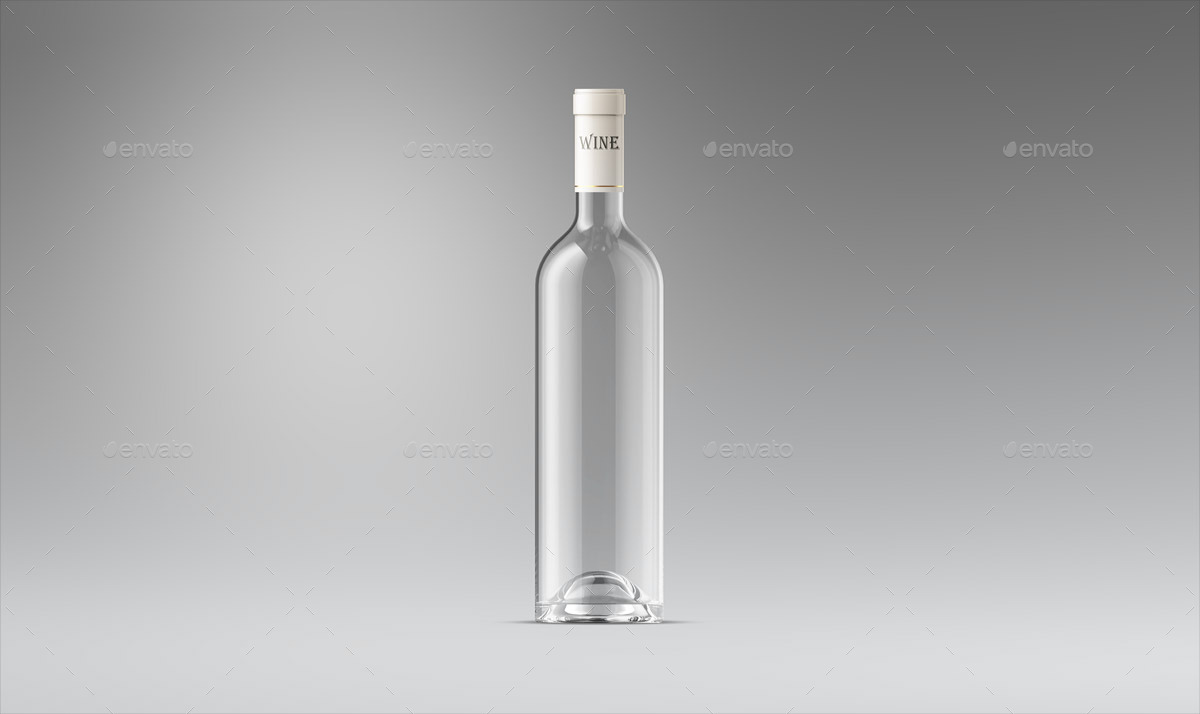wine bottle and glass mock up by ayashi graphicriver