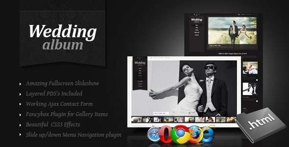 ThemeForest Wedding Album Premium xHTML CSS Template 1288829