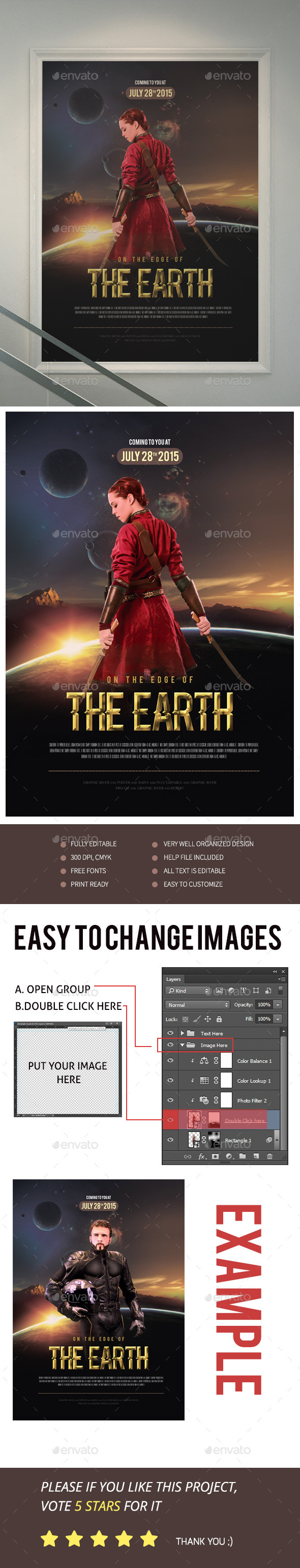 On The Edge Of The Earth Movie Poster/Flyer
