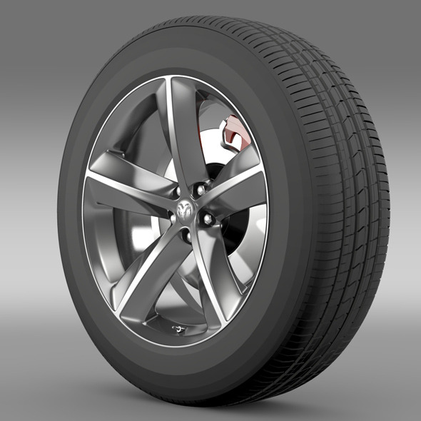 Dodge Challenger SRT8 wheel - 3DOcean Item for Sale