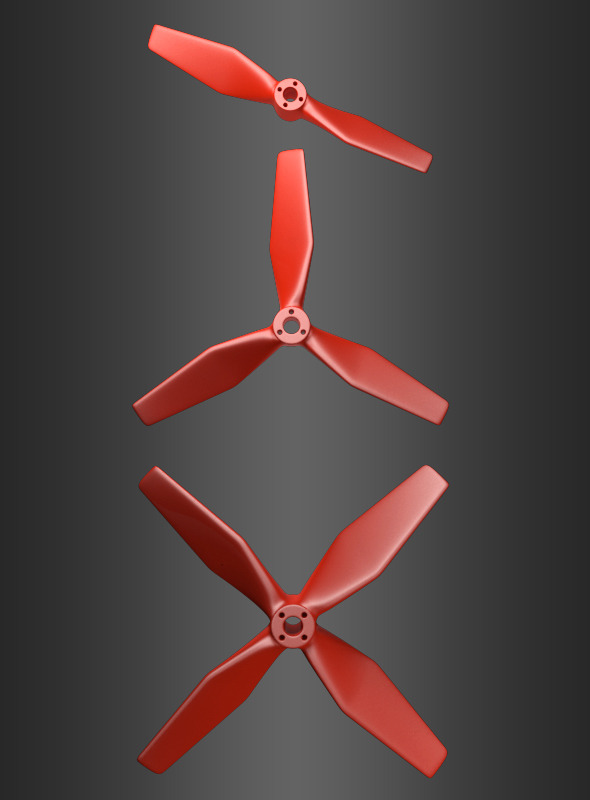 Set of 3 Propellers - 3DOcean Item for Sale
