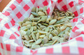 peeled pumpkin seeds in cloth