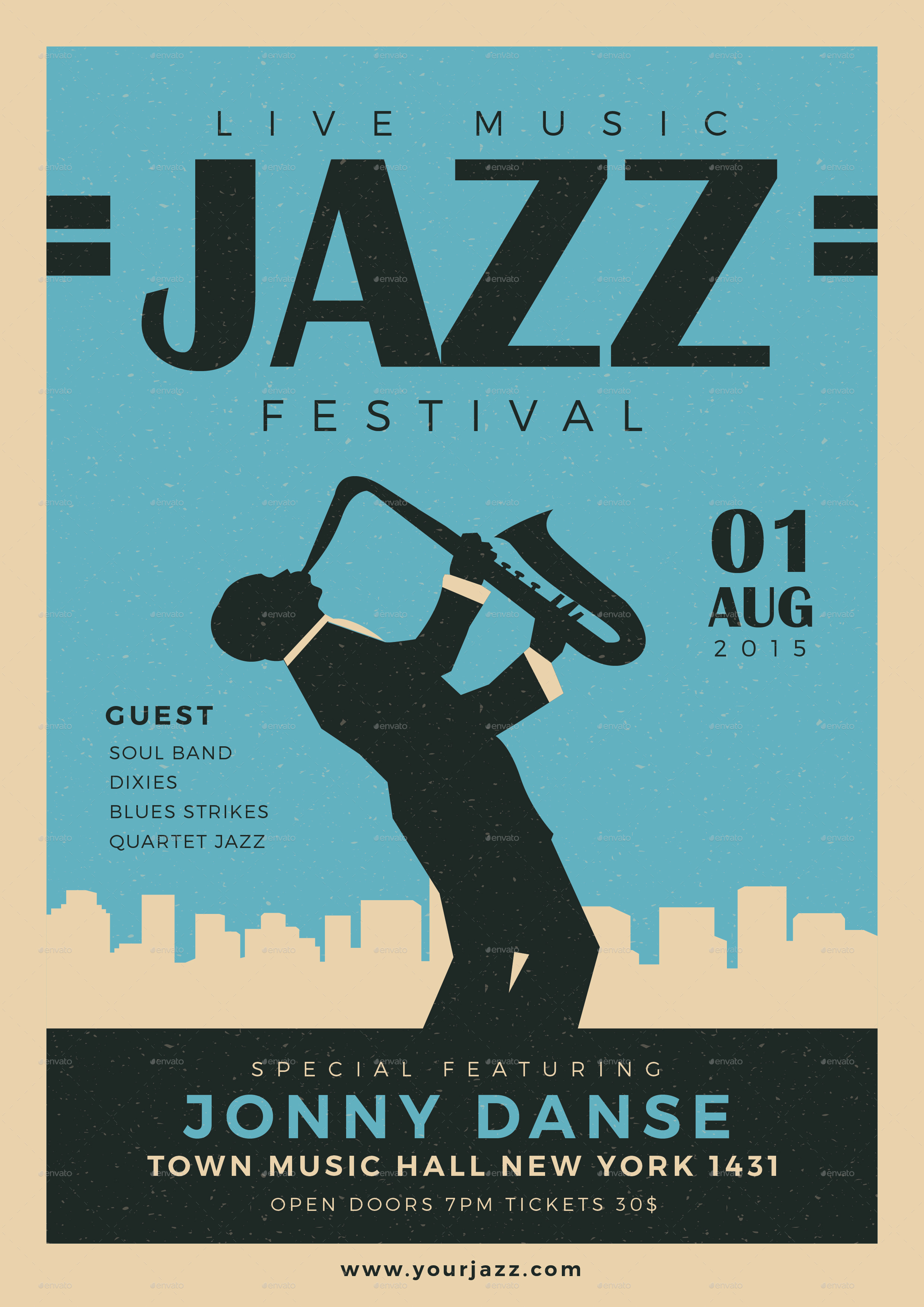 Old Jazz Festival Flyer by Guuver | GraphicRiver