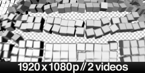 Exploding Block Wall Transition in 3D Series of 2