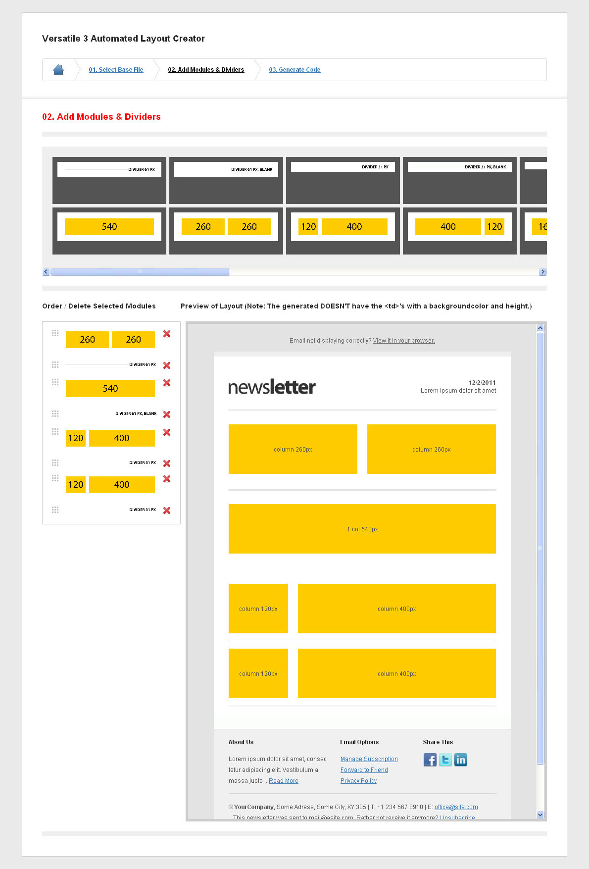Versatile Newsletter 3 - automated layout creator!