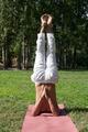 Supported Shoulderstand yoga asana