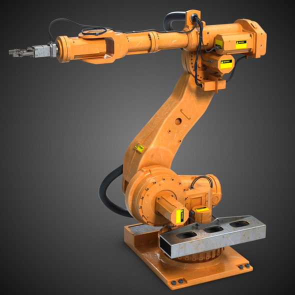 Industrial Robot Arm - 3DOcean Item for Sale
