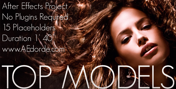 [VideoHive 743983] Top Models | After Effects Project