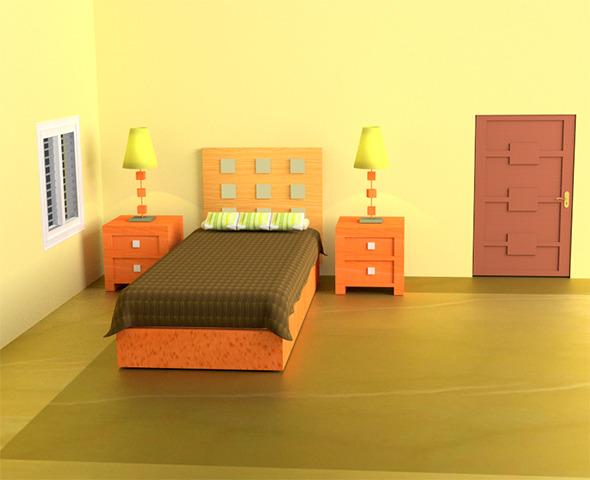 Bedroom Interior - 3DOcean Item for Sale