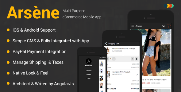 Arsène | iOS & Android eCommerce Mobile App