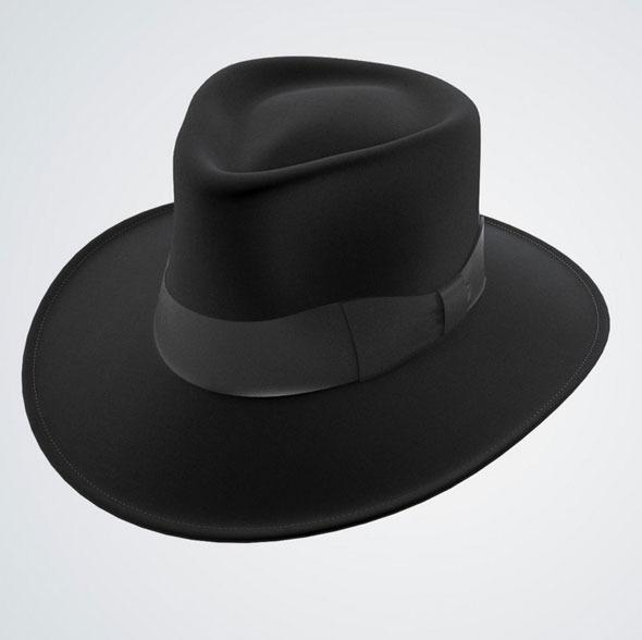 Jaxon Hat Fedora Black - 3DOcean Item for Sale