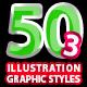 50 Illustrator Graphic Styles Vol.3 Bundle