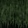 Green Matrix Abstract Background, Program Binary