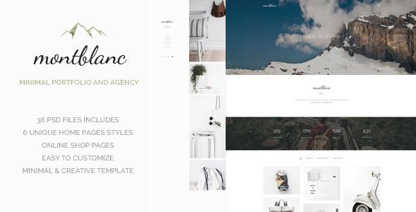 Montblanc - Minimal Creative PSD template