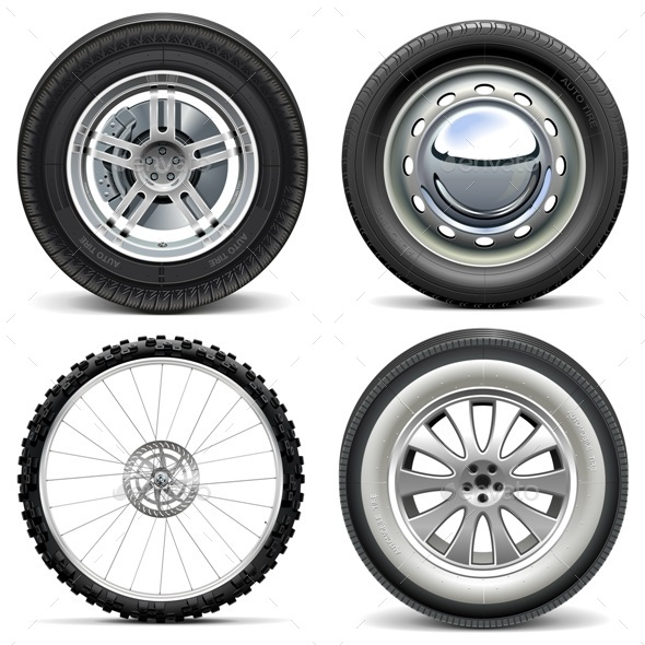 Vector Vehicle Wheels