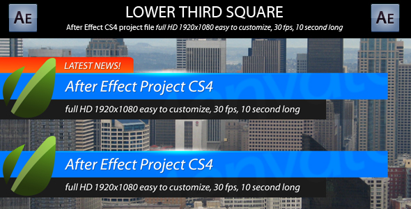 After Effects Project - VideoHive Lower Third Square 155118