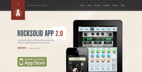 Rocksolid - App Showcase Agency - HTML