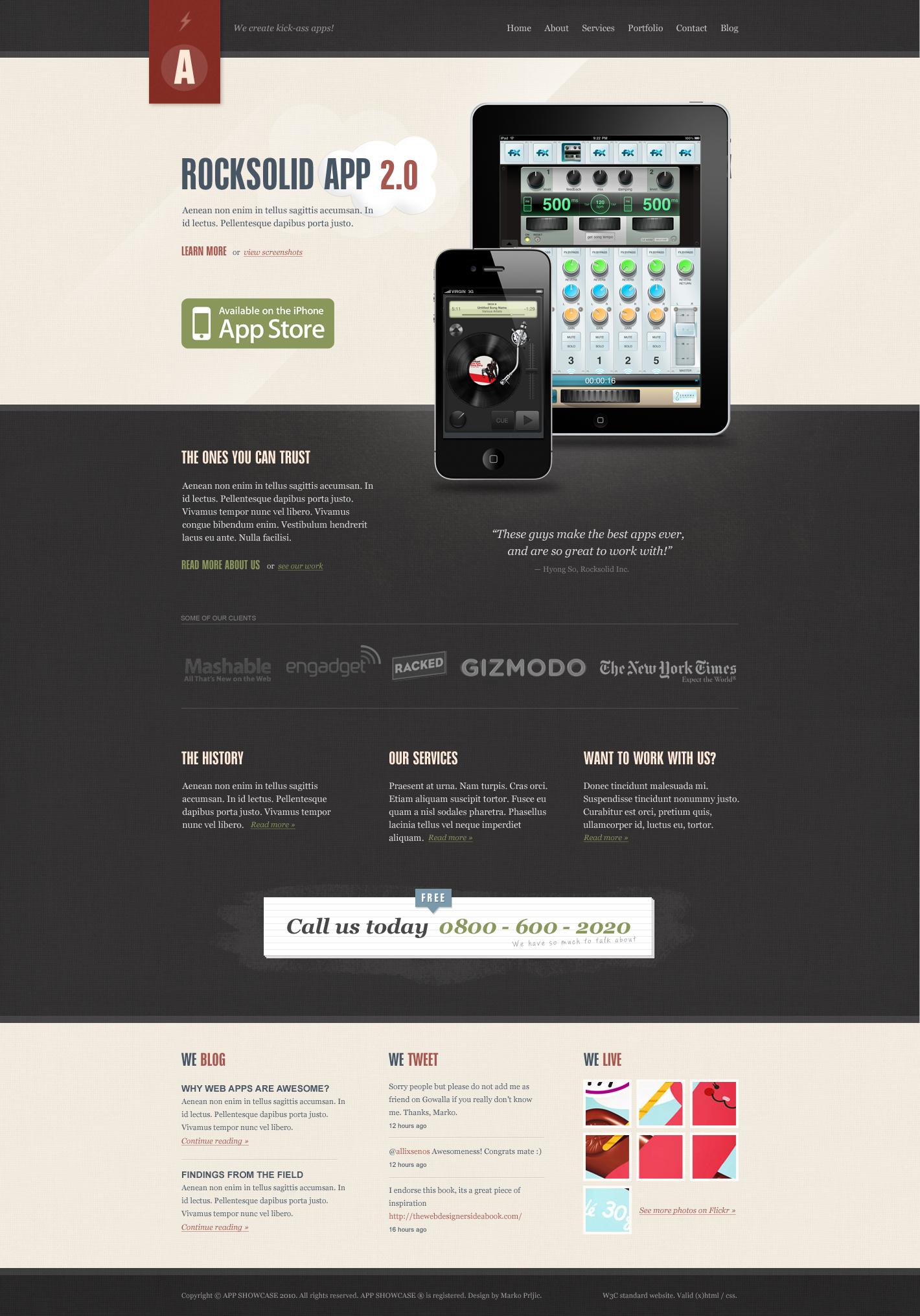 Rocksolid - App Showcase Agency - HTML