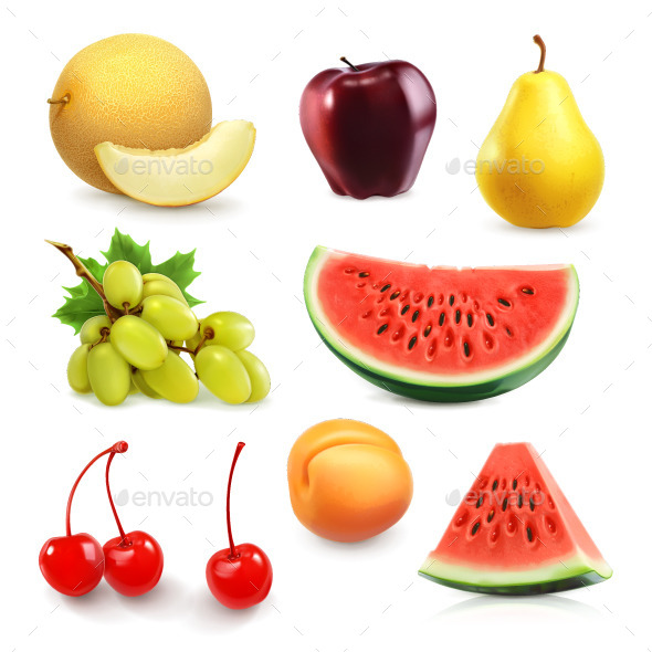 Summer Fruits Icons