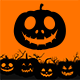 Pumpkin Faces Brushes Halloween