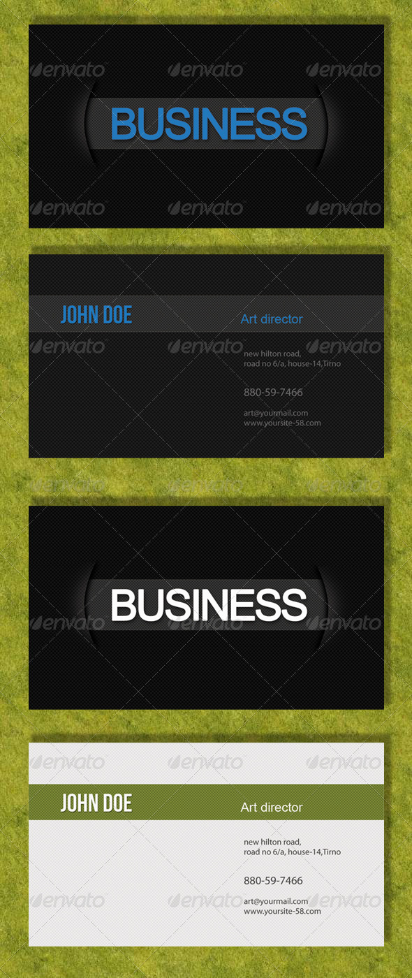 Professional Black & White Business Card
