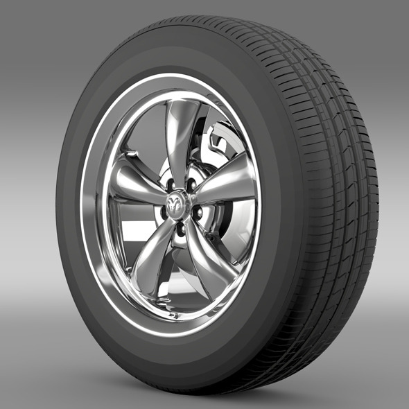 Mopar Dodge Challenger wheel - 3DOcean Item for Sale