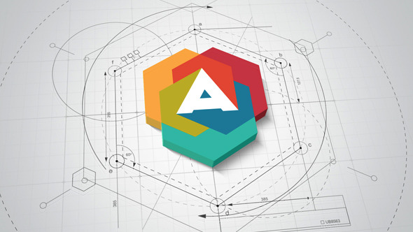 AE模板:明亮清洁三维建筑蓝图图纸公司企业logo标志展示模版Architect Logo Reveal免费下载