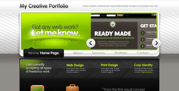 ThemeForest Creative Portfolio for Freelancers or Studios 51524