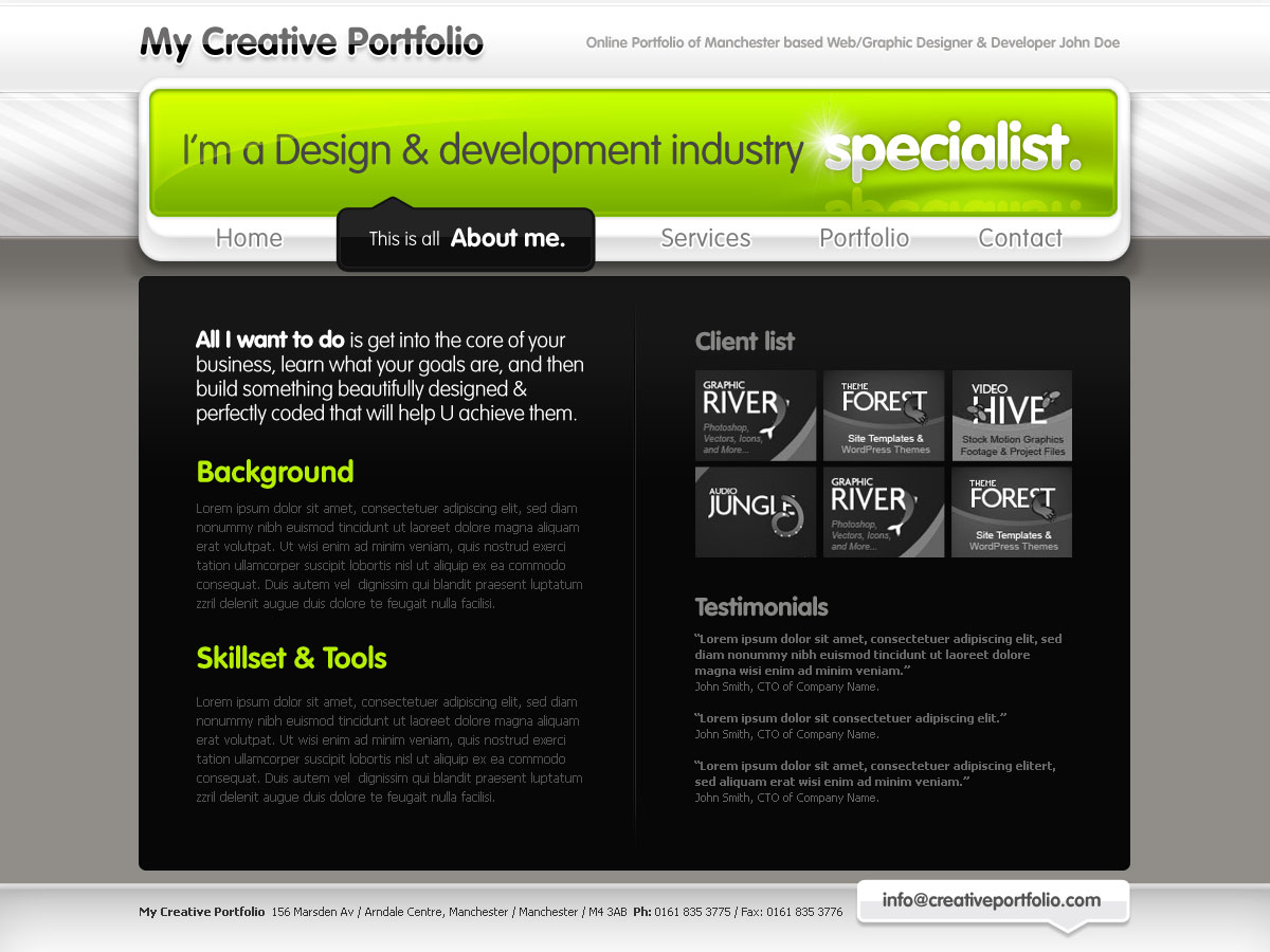 Creative Portfolio for Freelancers or Studios
