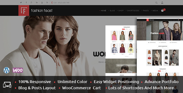 Фото Wordpress Шаблон  Fashion Feast - WooCommerce Responsive Theme — 01 Themepreview.  large preview