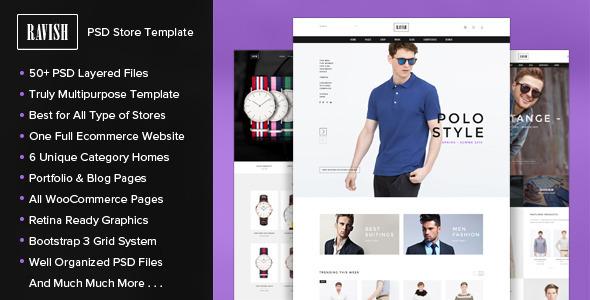 RAVISH - PSD Store Template