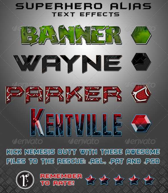 GraphicRiver SUPER HERO text styles 155246