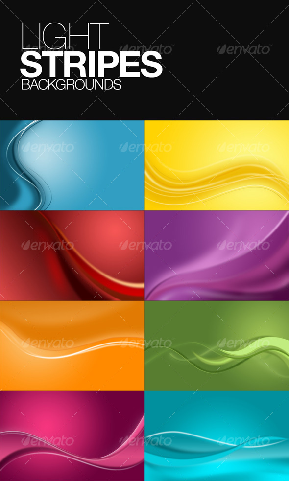 GraphicRiver Light Stripes Background 51306
